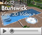 The Brunswick Fiberglass Swimming Pool