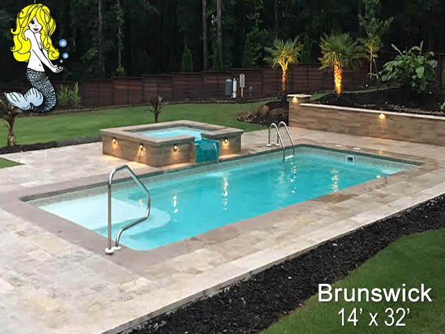 brunswick rectangle fiberglass swimming pools tallman pools