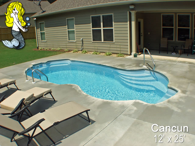 Cancun Freeform Fiberglass Swimming Pools Tallman Pools