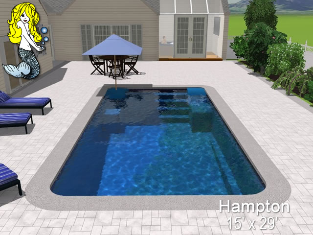 Hampton Rectangle Fiberglass Swimming Pools Tallman Pools