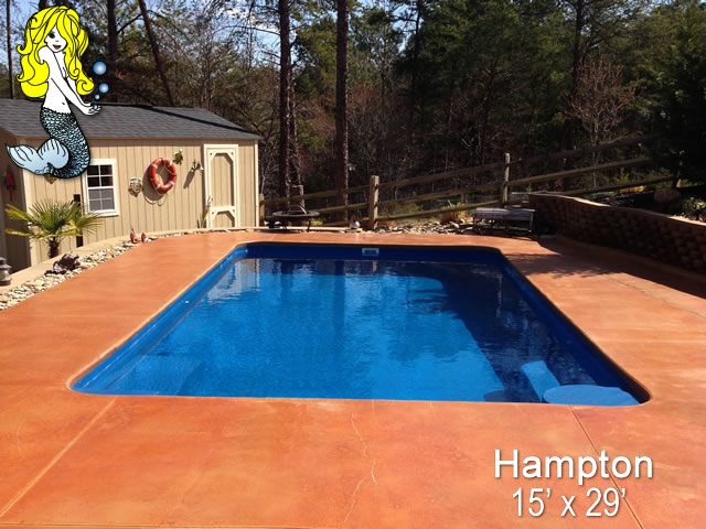 Hampton - Rectangle Fiberglass Swimming Pools - Tallman Pools