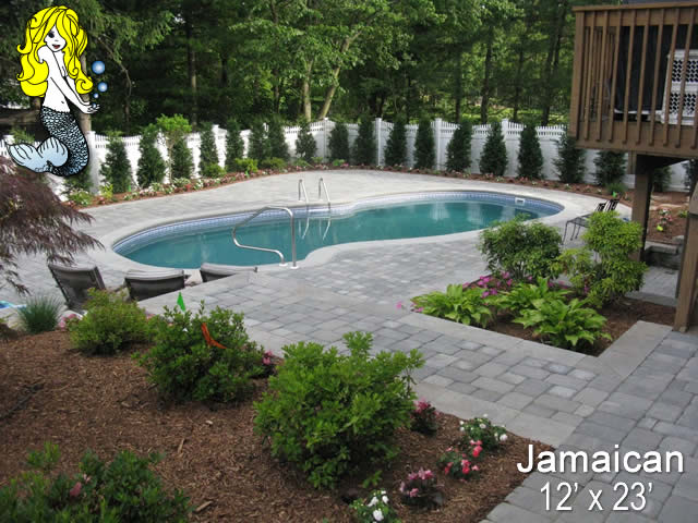 Jamaican Freeform Fiberglass Swimming Pools Tallman Pools