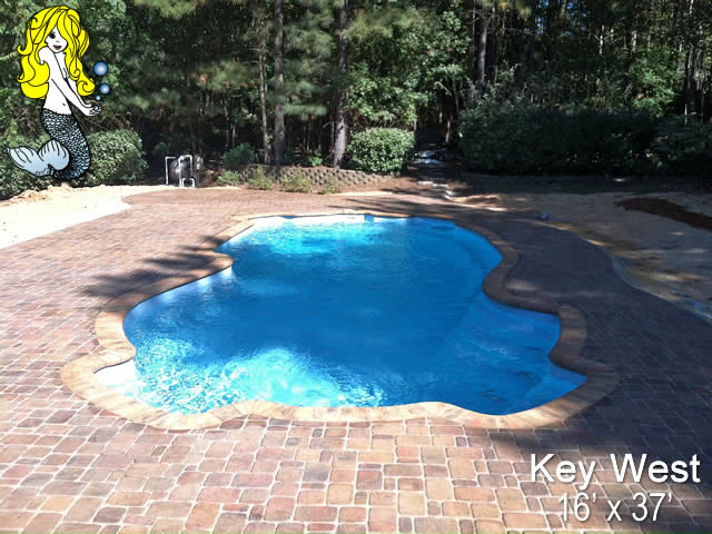 Key West Freeform Fiberglass Swimming Pools Tallman Pools