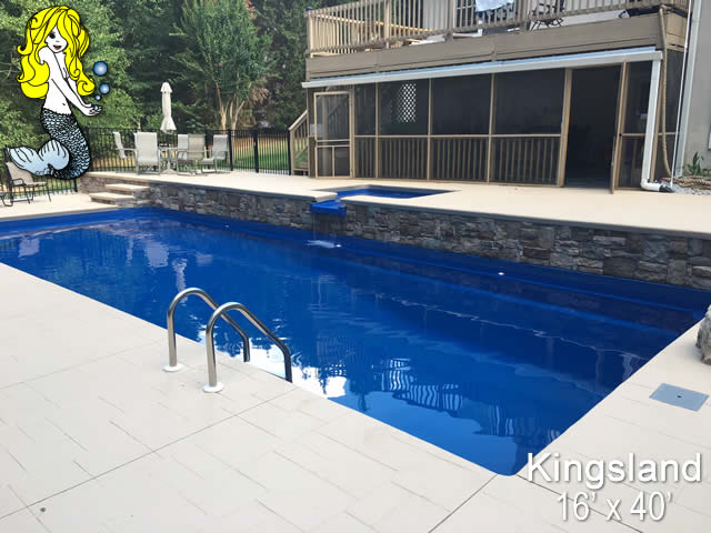 Kingsland - 8\' Depth Fiberglass Swimming Pools - Tallman Pools