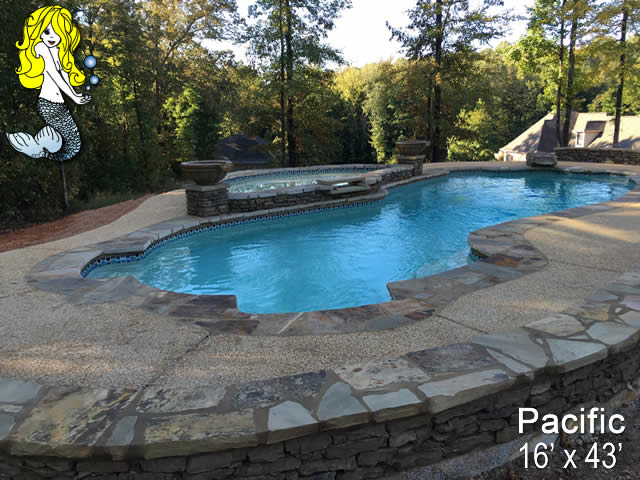 Pacific 8 39 depth fiberglass swimming pools tallman pools for Pacific pools
