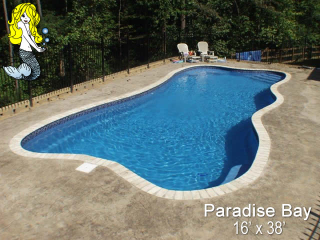 Paradise Bay - Lagoon Fiberglass Swimming Pools - Tallman Pools