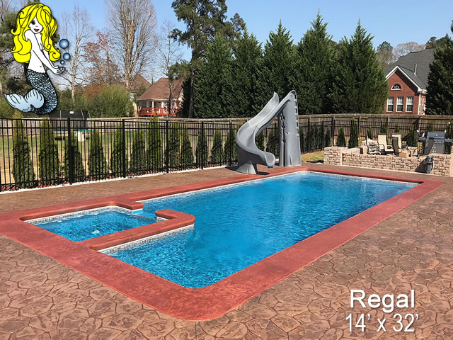 Regal - Pools with Spa Fiberglass Swimming Pools - Tallman Pools
