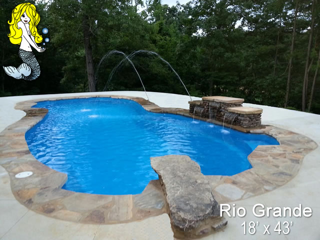 rio grande 8 39 depth fiberglass swimming pools tallman pools